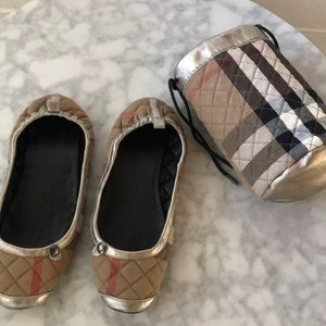 Burberry ballet slippers with bag size med (5-6)